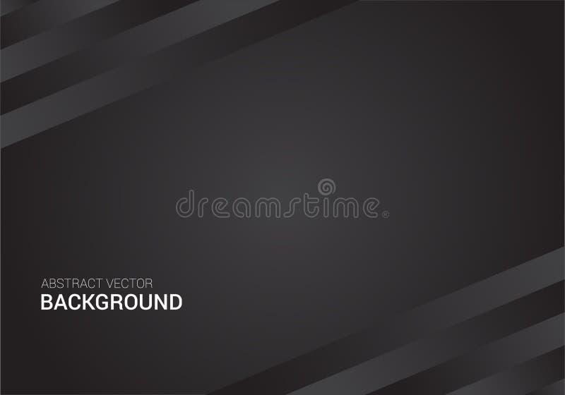 Modello astratto di progettazione del fondo del manifesto del nero di vettore immagini stock