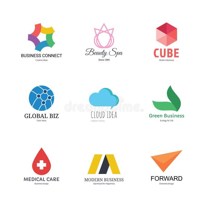 Modello astratto di progettazione di logo illustrazione vettoriale