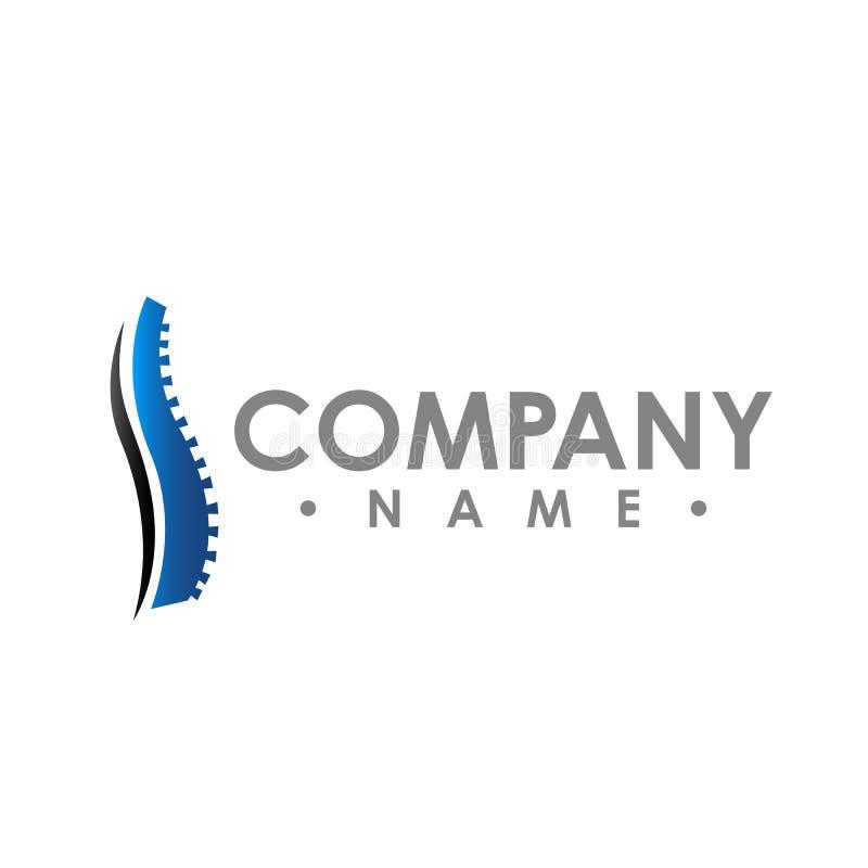 Modello astratto di progettazione di logo di vettore di chiroterapia chiropractic illustrazione di stock
