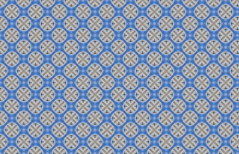 Modello astratto di progettazione di multiplo X blu dei cerchi illustrazione di stock