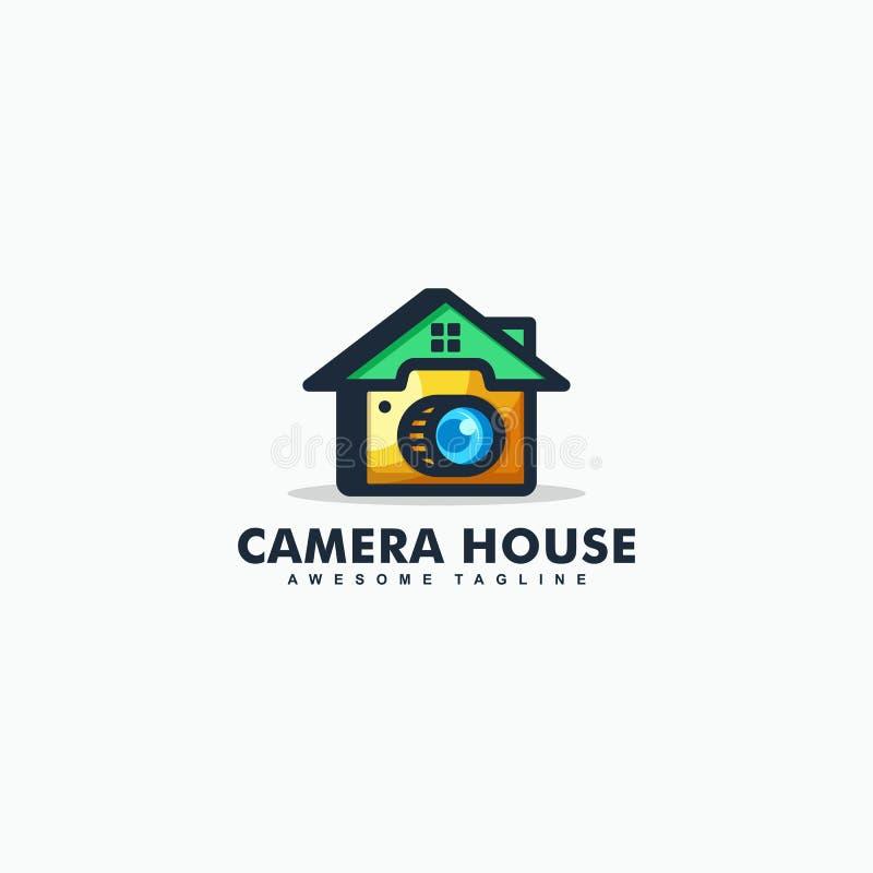 Modello astratto di progettazione di vettore dell'illustrazione della Camera della macchina fotografica illustrazione di stock