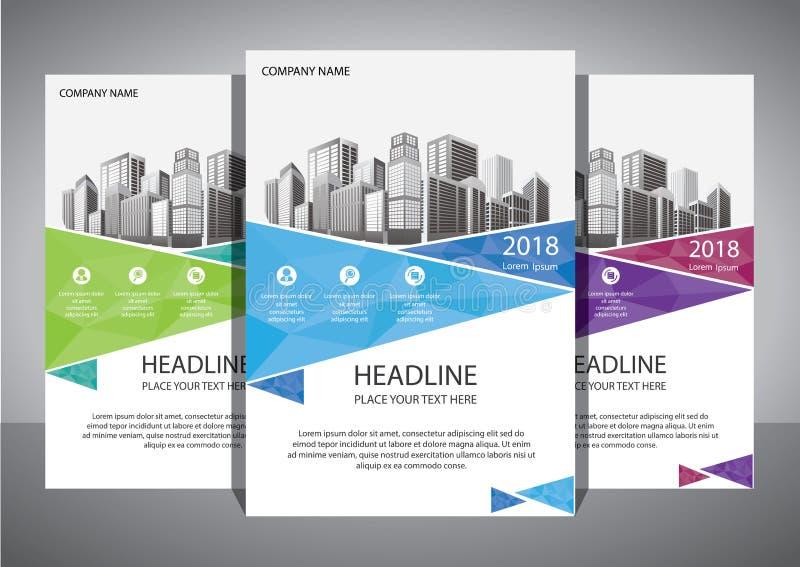 Modello astratto di vettore di affari Progettazione dell'opuscolo, disposizione moderna della copertura, rapporto annuale, manife fotografia stock