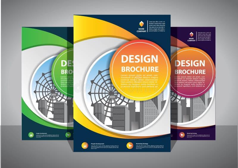 Modello astratto di vettore di affari Progettazione dell'opuscolo, disposizione moderna della copertura, rapporto annuale, manife fotografia stock libera da diritti