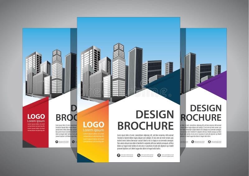 Modello astratto di vettore di affari Progettazione dell'opuscolo, disposizione moderna della copertura, rapporto annuale, manife immagine stock libera da diritti