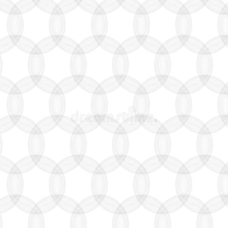 Modello astratto di vettore senza cuciture struttura bianca Maglia del cerchio royalty illustrazione gratis