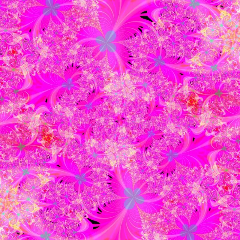 Modello astratto floreale dentellare luminoso di disegno della priorità bassa illustrazione di stock