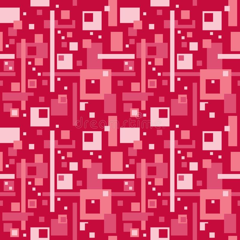 Modello astratto nel colore rosso illustrazione di stock