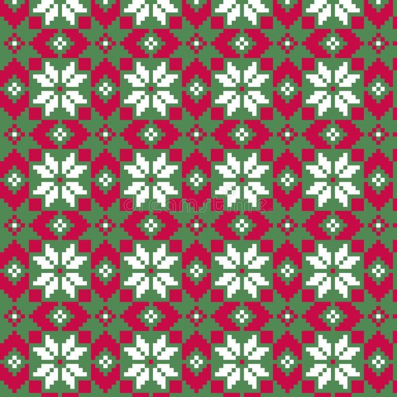 Modello astratto senza cuciture di Natale nordico illustrazione vettoriale