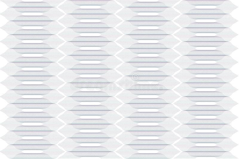Modello astratto senza cuciture di pendenza con l'ornamento verde viola della rabescatura isolato su fondo trasparente Complesso  immagine stock libera da diritti