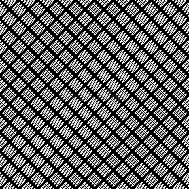 Modello astratto senza cuciture di vettore in bianco e nero Carta da parati astratta della priorità bassa Illustrazione di vettor illustrazione di stock
