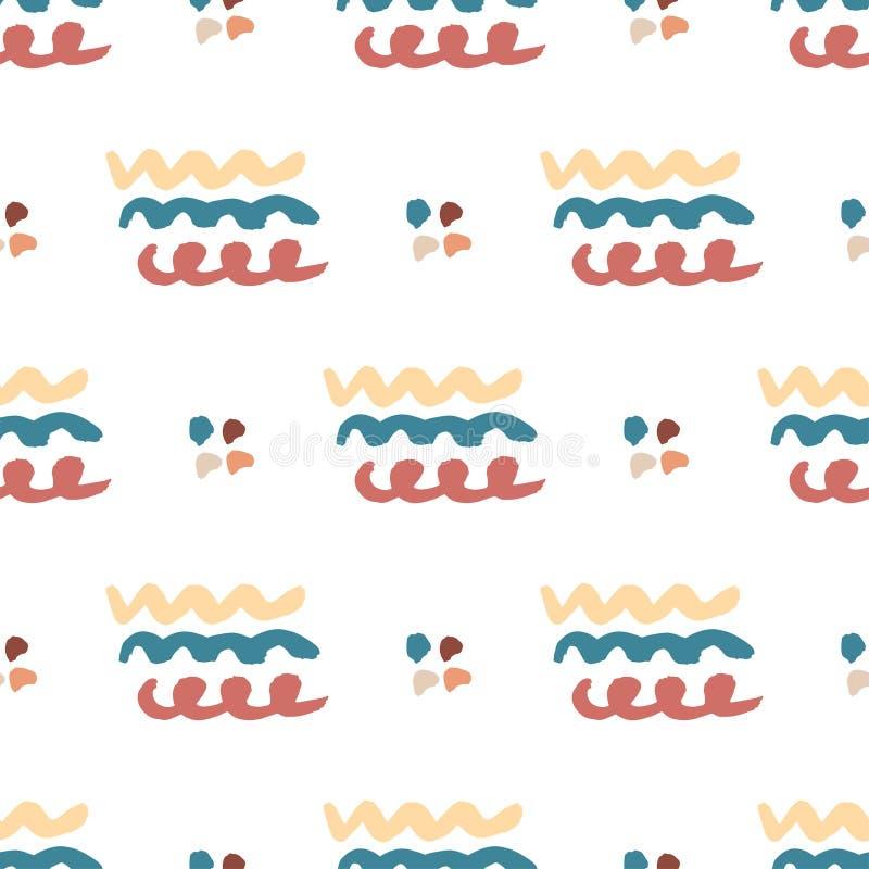 Download Modello Astratto Senza Cuciture Disegnato A Mano Priorità Bassa Ondulata Di Vettore Struttura Senza Cuciture Nello Stile Dei Pant Illustrazione Vettoriale - Illustrazione di geometrico, dissipato: 56884989