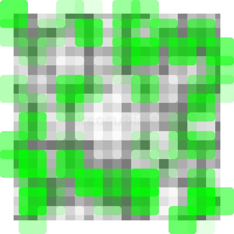 Modello astratto - sfuocatura grigia e bianca di verde, illustrazione vettoriale