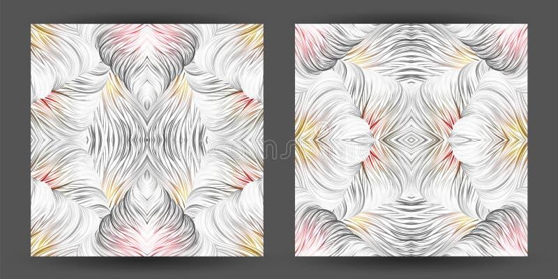 Modello astratto stabilito senza cuciture linea trafori di arte natura dei capelli dell'onda royalty illustrazione gratis