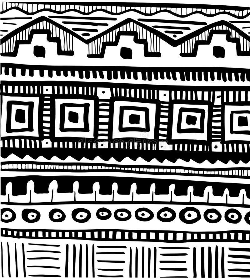 Modello astratto tribale illustrazione vettoriale
