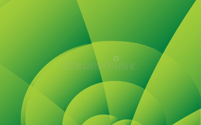Modello astratto verde del fondo, progettazione della copertura, insegna, aletta di filatoio di affari, struttura organica, vetto illustrazione di stock