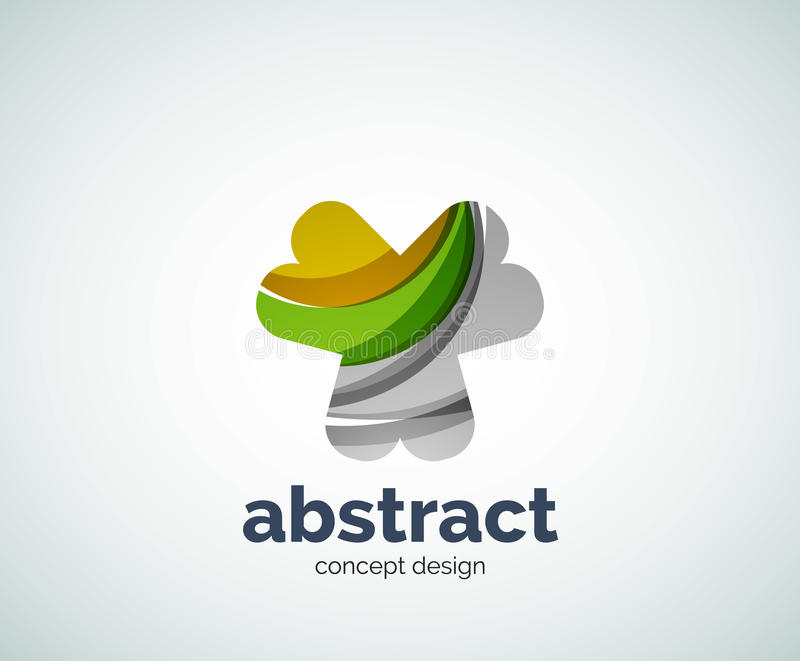 Modello astruso di logo di forma di vettore illustrazione vettoriale