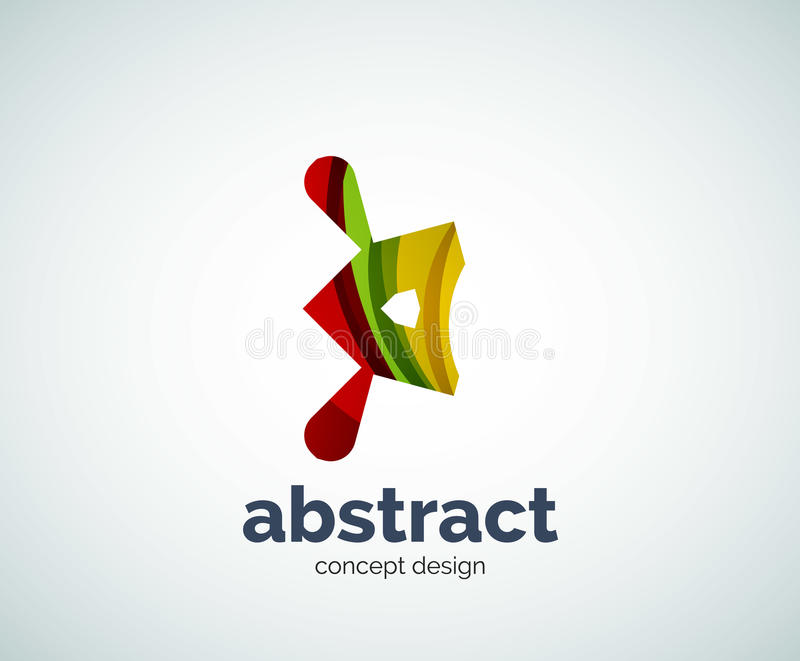 Modello astruso di logo di forma di vettore royalty illustrazione gratis