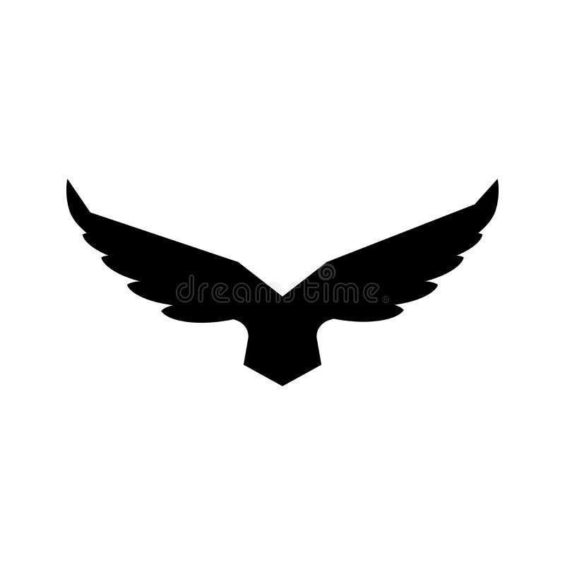 Modello aumentante in ascesa di vettore di progettazione di logo delle ali del falco Uccello araldico corporativo di lusso di Eag illustrazione di stock