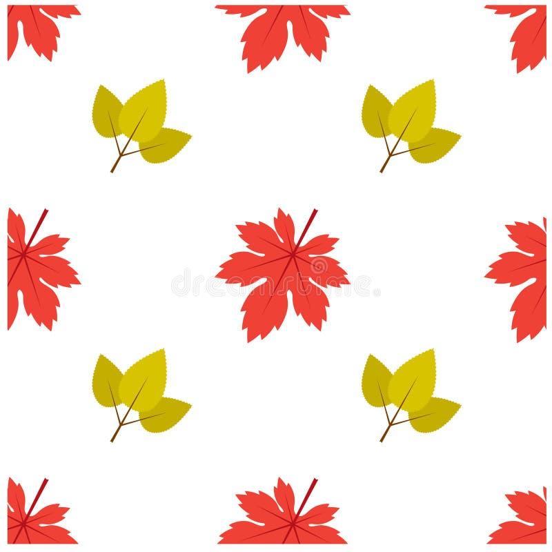 Modello Autumn Leaf Fall Maple e foglia royalty illustrazione gratis