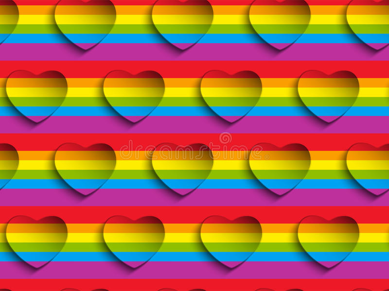 Modello Backgroun di Valentine Day Gay Heart Seamless illustrazione vettoriale
