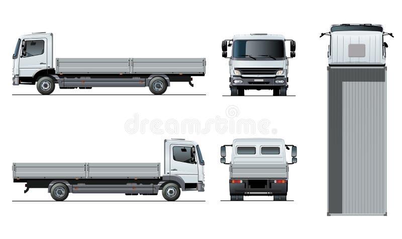 Modello a base piatta del camion di vettore isolato su bianco illustrazione di stock