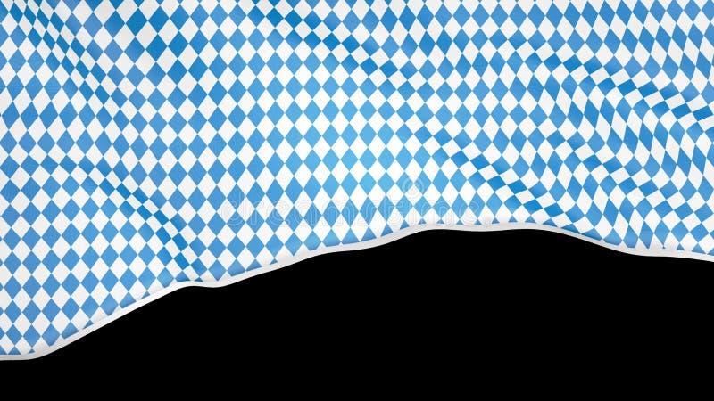 Modello bavarese della bandiera di Octoberfest Fondo del fest ottobre di Monaco di Baviera Fondo isolato ornamento blu più octobe fotografia stock