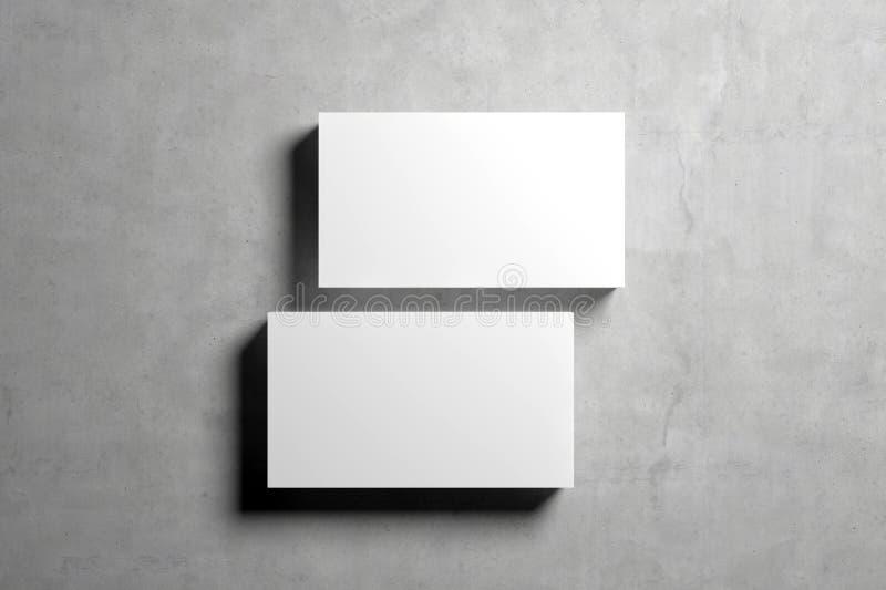 Modello in bianco dei biglietti da visita illustrazione di stock