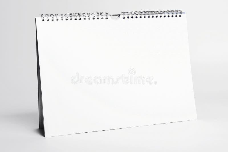 Modello bianco del calendario immagine stock