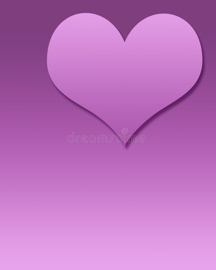 Modello in bianco del cuore illustrazione di stock