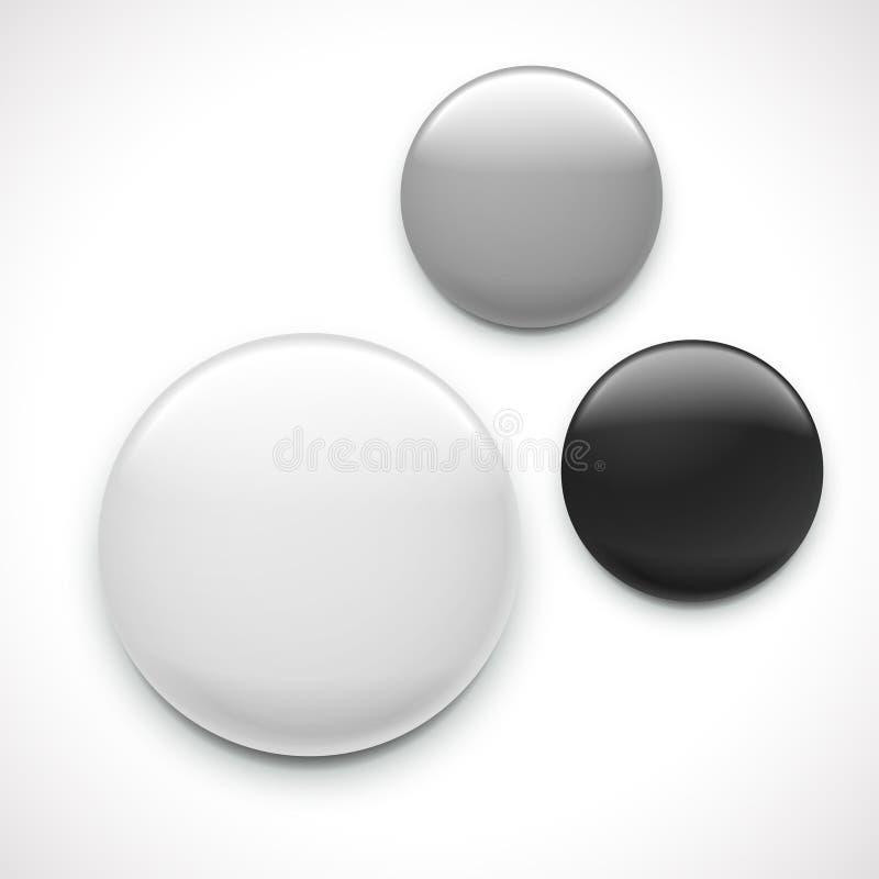 Modello in bianco del distintivo del bottone royalty illustrazione gratis