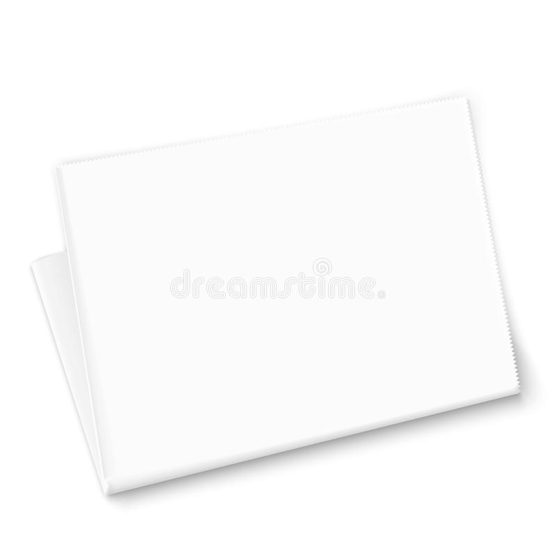 Modello in bianco del giornale. illustrazione vettoriale