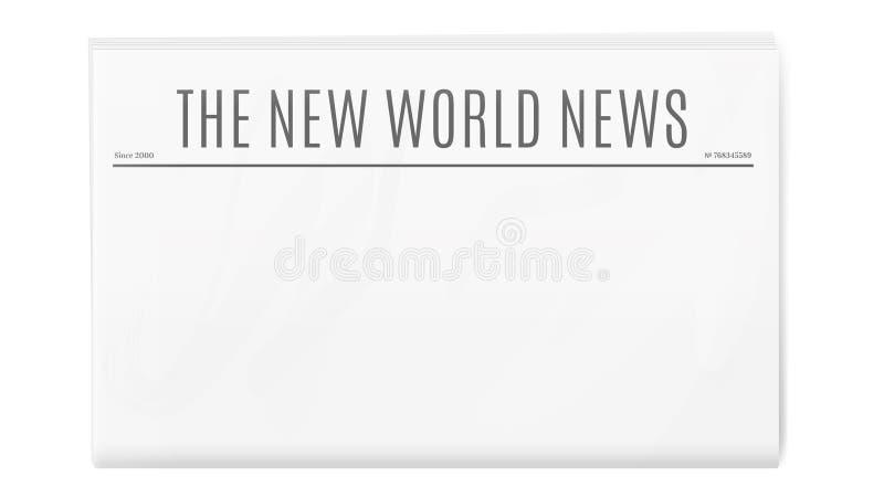 Modello in bianco del giornale con lo spazio della copia royalty illustrazione gratis