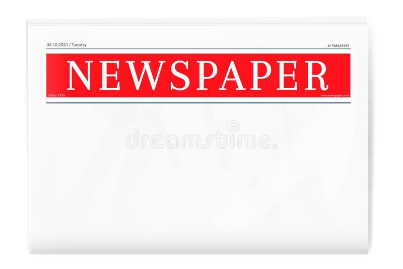 Modello in bianco del giornale royalty illustrazione gratis