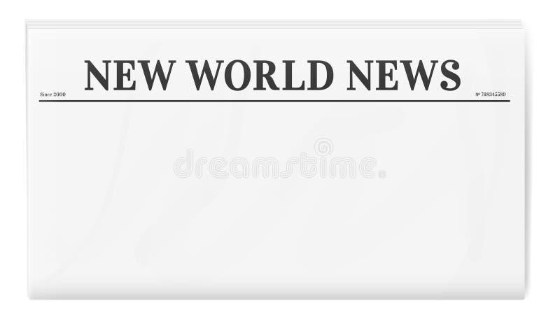 Modello in bianco del giornale illustrazione di stock