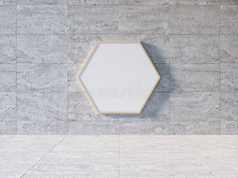 Modello bianco del tabellone per le affissioni illustrazione di stock