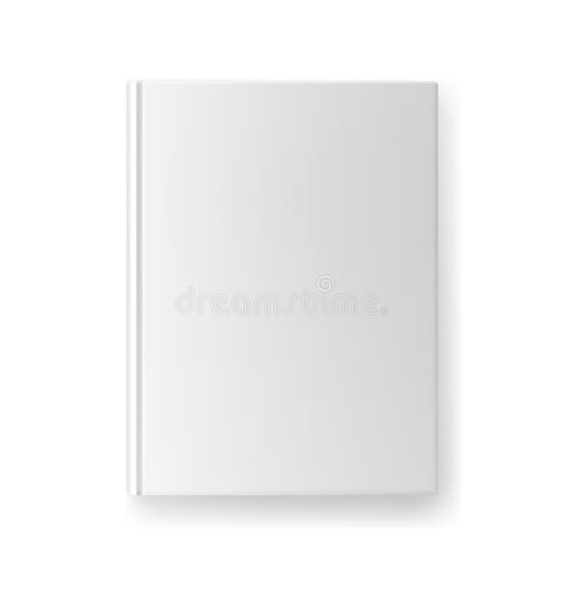 Modello in bianco della copertina di libro royalty illustrazione gratis