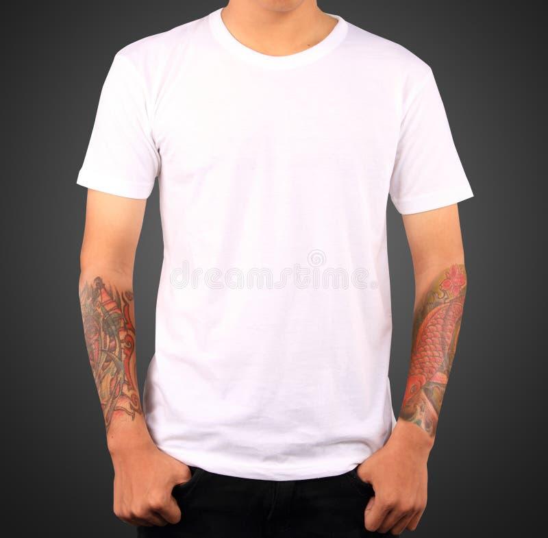 Modello bianco della maglietta immagine stock libera da diritti