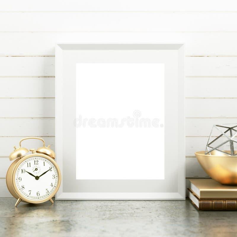 Modello in bianco della pagina sullo scrittorio fotografia stock libera da diritti