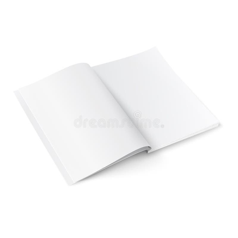 Modello in bianco della rivista con le ombre molli. royalty illustrazione gratis