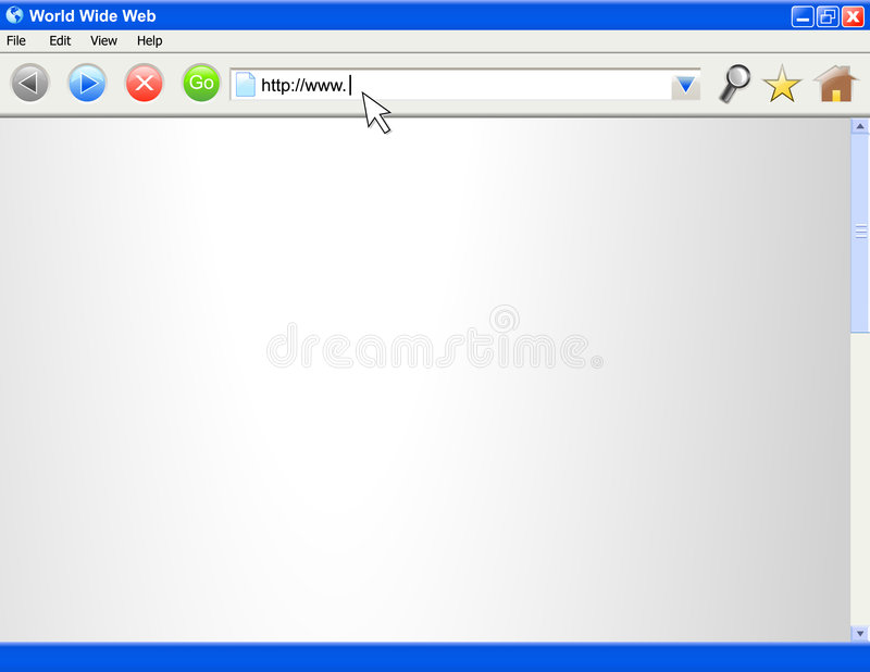 Modello in bianco dello schermo del browser del Internet royalty illustrazione gratis