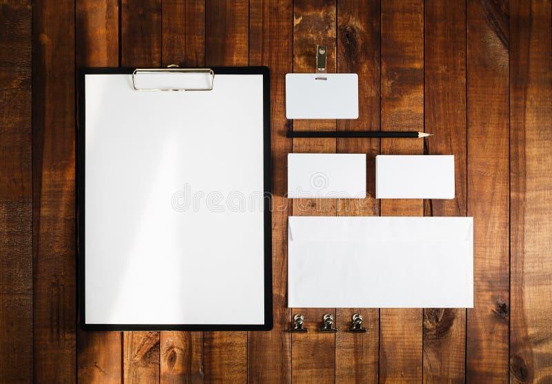 Modello in bianco di marca di affari fotografia stock