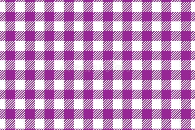Modello bianco di rosa del percalle del mattone refrattario e Struttura dal rombo/quadrati per - il plaid, tovaglie, vestiti, cam royalty illustrazione gratis