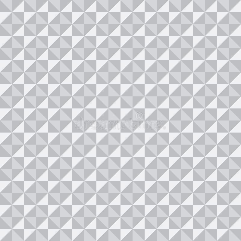 Modello bianco di struttura 3D dei triangoli e dei quadrati, vettore, struttura bianca senza cuciture illustrazione vettoriale