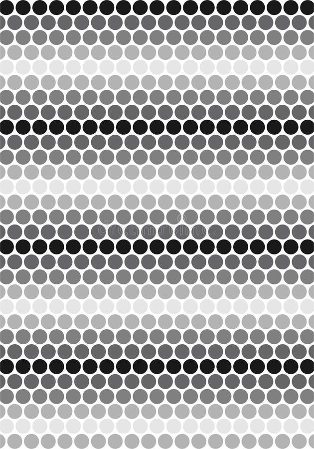 Modello bianco e nero dei cerchi illustrazione di stock