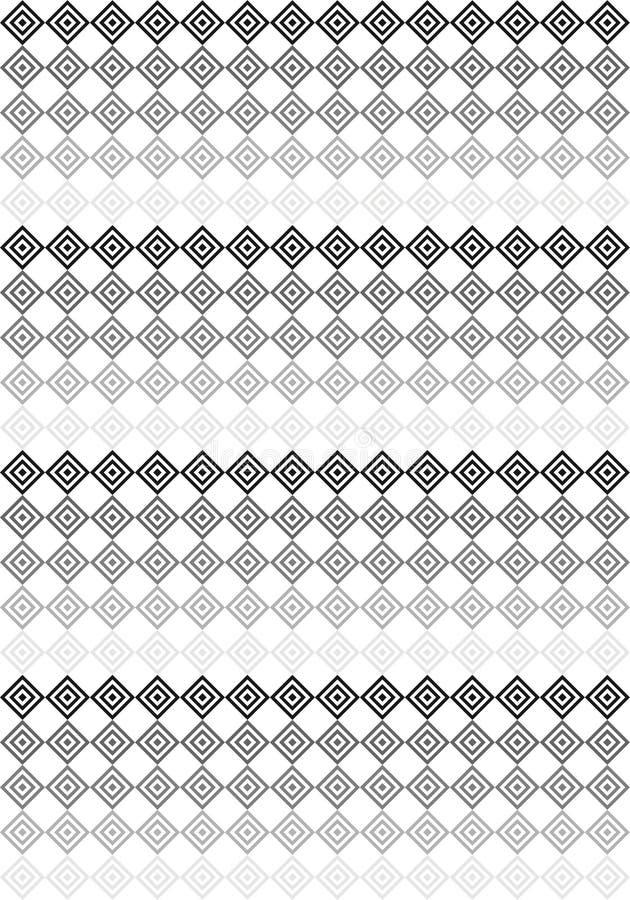Modello bianco e nero dei quadrati illustrazione vettoriale