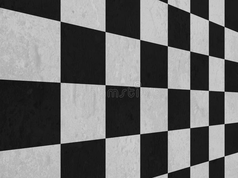 Modello in bianco e nero del fondo del pavimento del controllore illustrazione di stock