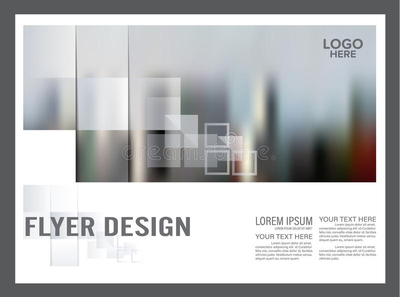 Modello in bianco e nero di progettazione della disposizione dell'opuscolo annuale illustrazione di stock