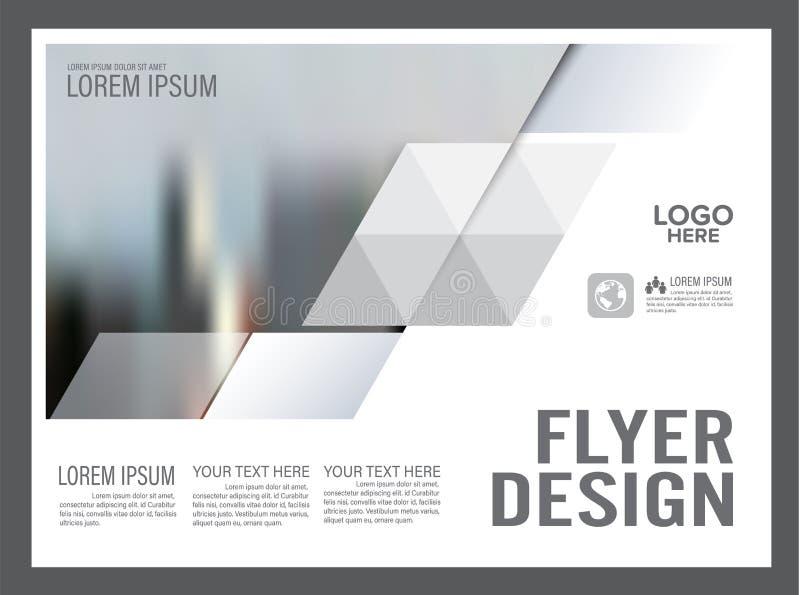 Modello in bianco e nero di progettazione della disposizione dell'opuscolo annuale royalty illustrazione gratis