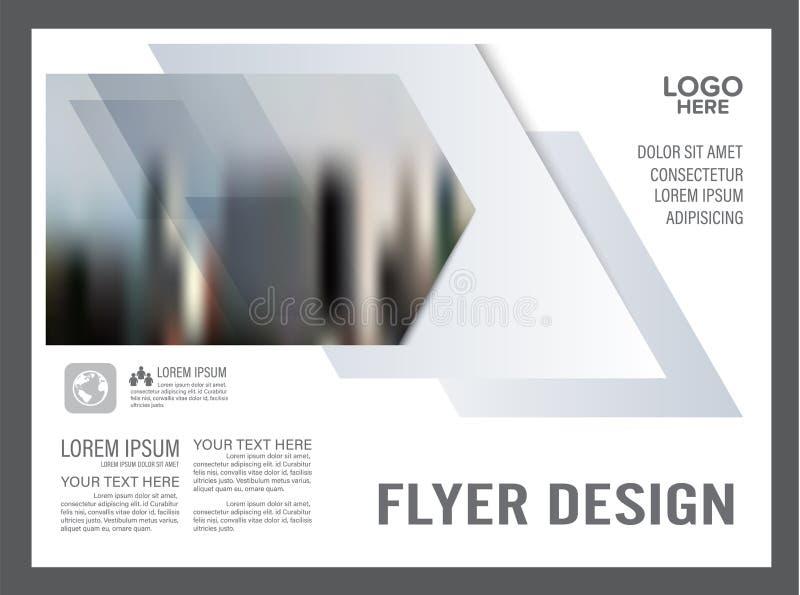 Modello in bianco e nero di progettazione della disposizione dell'opuscolo annuale illustrazione vettoriale