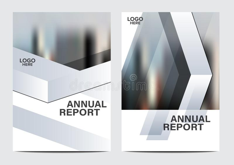 Modello in bianco e nero di progettazione della disposizione dell'opuscolo Fondo moderno di presentazione della copertura dell'op illustrazione di stock